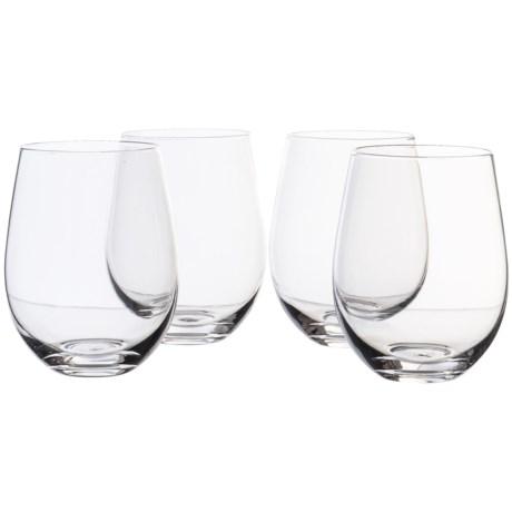 Circle Glass Midtown Clear Stemless Wine Glass Set -18.5 oz., 4-Piece