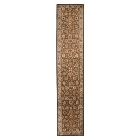 "Amer Cardinal Collection Multi-Border Floor Runner - 2'6""x12', New Zealand Wool"