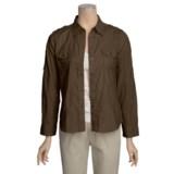 Shadow Stripe Shirt - Cotton, Long Sleeve (For Women)