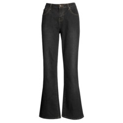 Specially made Washed Bootcut Jeans - Stretch Cotton (For Women)