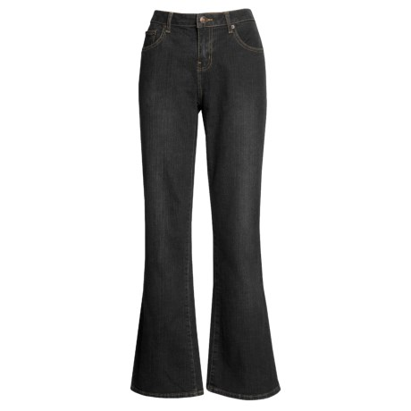 Washed Bootcut Jeans - Stretch Cotton (For Women)