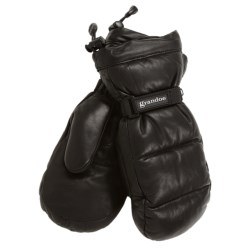 Grandoe Leather Arctic Down Mittens - Waterproof, Insulated (For Women)