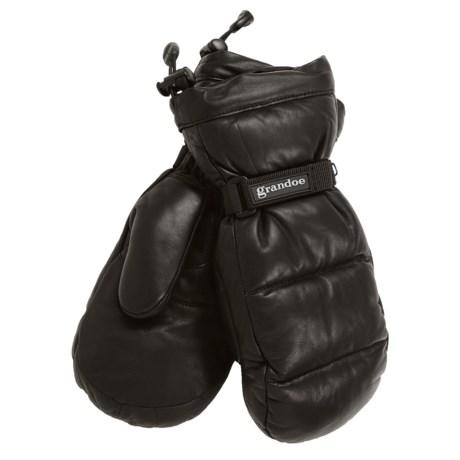 Grandoe Arctic Down Mittens - Leather, Waterproof (For Men)