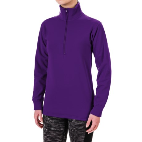 Kenyon Polartec® Power Stretch® Base Layer Top - Zip Neck, Long Sleeve (For Women)