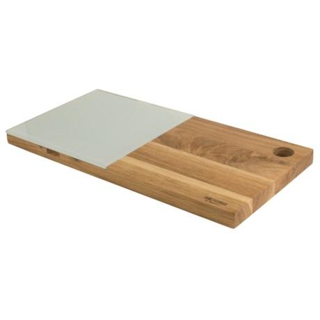 Sagaform Edge Cheese Board - Glass-Oak