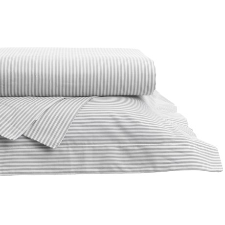 Westport Home Yarn-Dyed Oxford Stripe Sheet Set - Queen, 200 TC
