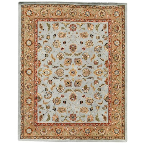 Amer Mosaic Collection Multi-Border Accent Rug - 2x3', New Zealand Wool-Cotton