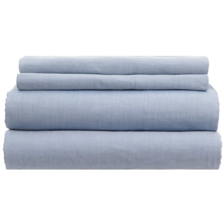 Westport Home Yarn-Dyed Chambray Sheet Set - Queen, 200 TC