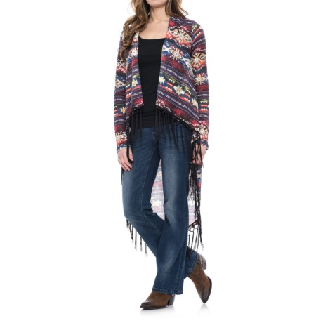 Wrangler Rock 47 Printed Duster Cardigan Sweater - Open Front (For Women)