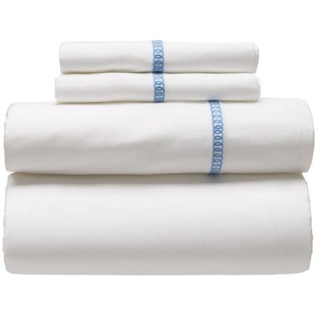 Westport Home Circle Link Egyptian Cotton Sheet Set - King, 300 TC