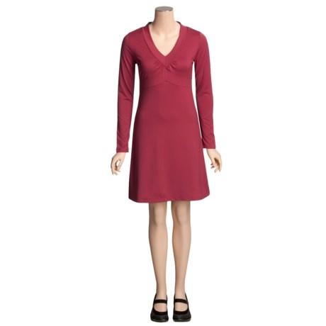 SoyBu Wanderlust Dress -  V-Neck, Long Sleeve (For Women)