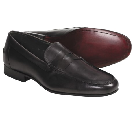 Eduardo G. Portofino Penny Loafer Shoes - French Calf Leather (For Men)