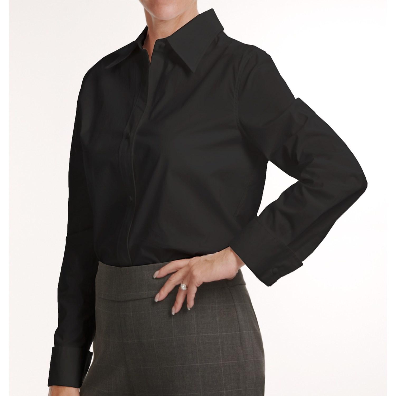 Louben stretch cotton shirt for women 3844u save 79 French cuff shirt women