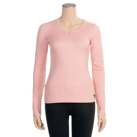 Hot Chillys Micro-Elite Brushed Sweetness Base Layer Top - Zip Neck, Long Sleeve (For Women)