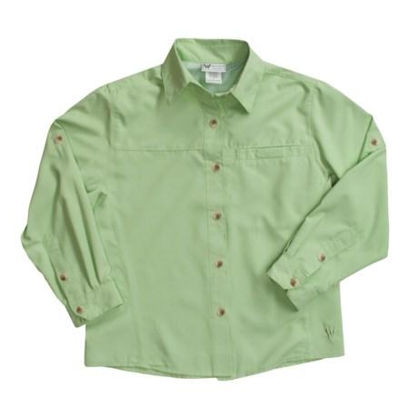 White Sierra Gobi Desert Shirt - UPF 30, Long Sleeve (For Girls)