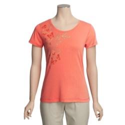 White Sierra Meadow Springs T-Shirt - Short Sleeve (For Women)