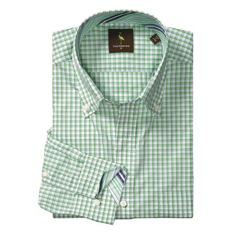 Tailorbyrd Mini Plaid Sport Shirt - Contrast Facings, Long Sleeve (For Men)