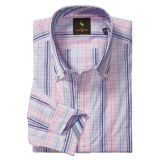 TailorByrd Tailorbyrd Plaid Sport Shirt - Contrast Facings, Long Sleeve (For Men)