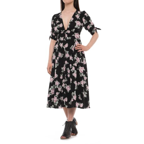 Free People Love of My Life Printed Midi Dress - Short Sleeve (For Women)