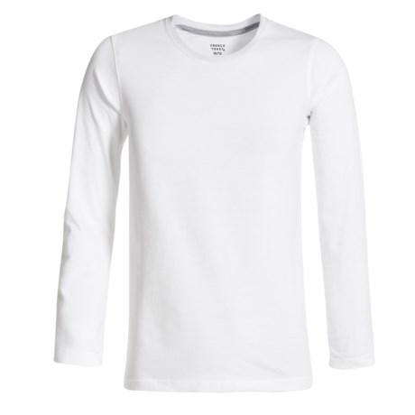 French Toast Basic T-Shirt - Crew Neck, Long Sleeve (For Big Boys)