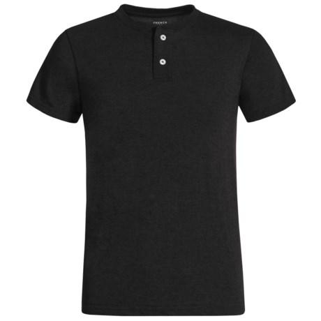 French Toast Basic Henley Shirt - Short Sleeve (For Big Boys)