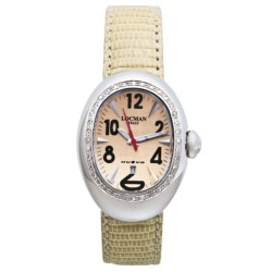 Locman Italy Locman Nuovo Diamond Bezel Watch - Mother-of-Pearl Dial (For Women)