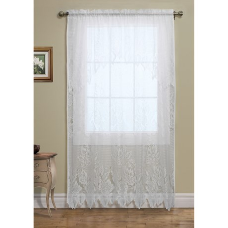 "Habitat Lace Curtains - 108x84"", Pole-Top, Attached Valance"