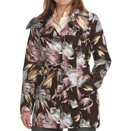 Tribal Sportswear Cotton Trench Jacket (For Women)