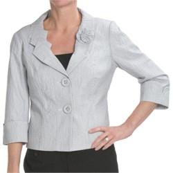 Tribal Sportswear Puckered Jacket - 3/4 Sleeve (For Petite Women)