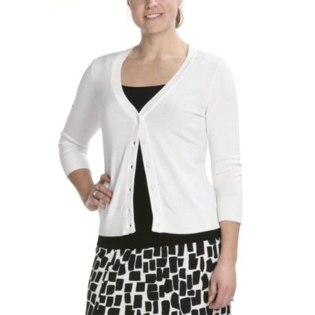 Tribal Sportswear Basic Knit Cardigan Sweater - 3/4 Sleeve (For Women)