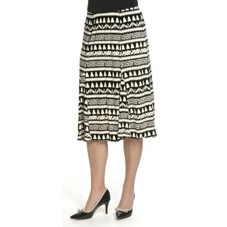 Tribal Sportswear Panel Flared Printed Skirt (Women)