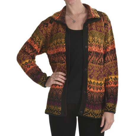 San York Alpaca Cardigan Sweater - Button Front (For Women)