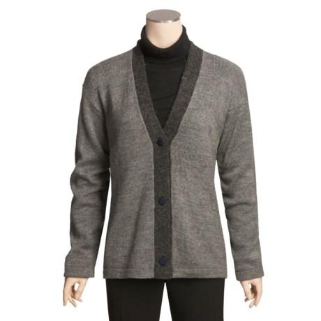 San York Alpaca Cardigan Sweater - V-Neck (For Women)