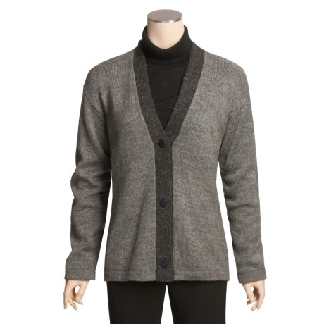 San York Alpaca Cardigan Sweater - V-Neck (For Women)