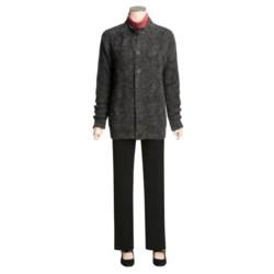 San York Alpaca Cardigan Sweater - Cable (For Women)