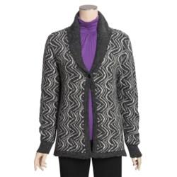 San York Jacquard Open Cardigan Sweater - Alpaca (For Women)