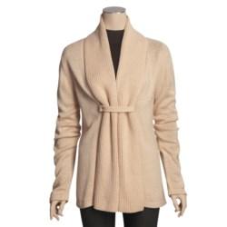 San York Alpaca Cardigan Sweater - Snap Front (For Women)