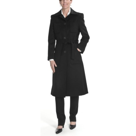 Wool-Cashmere Coat - 3/4 Length (For Women)