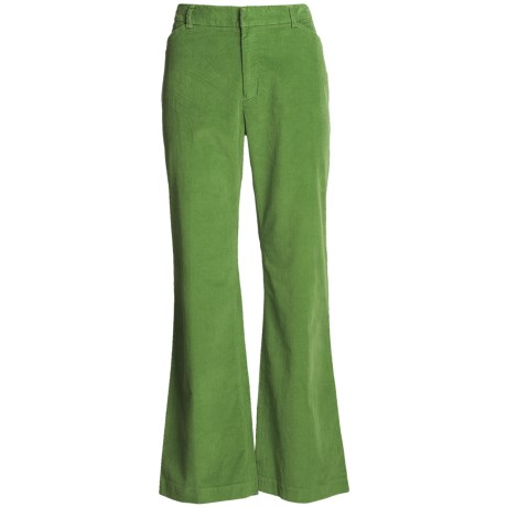 Stretch Pinwale Corduroy Pants - Cotton Rich (For Women)