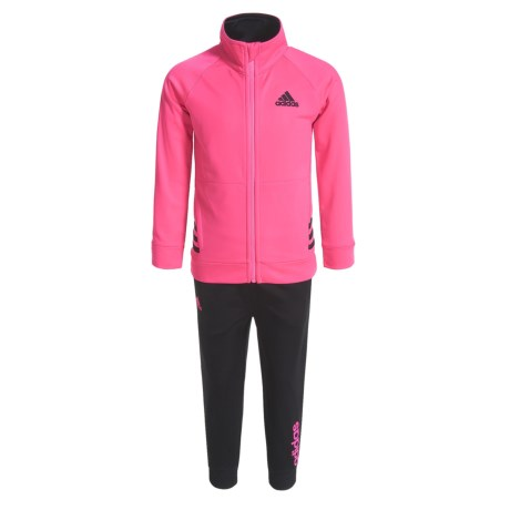 adidas Tricot Sweatshirt and Joggers Set (For Toddler Girls)
