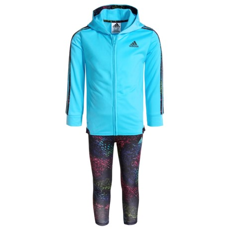 adidas Colors Ignite Hoodie and Leggings Set (For Toddler Girls)