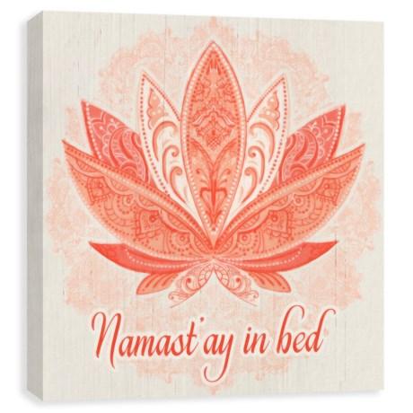 "Artissimo Designs ""Namast'ay In Bed"" Canvas Print - 14x14"""