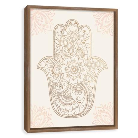 "Artissimo Designs 16x20"" Hamsa Wooden Shadow Box Print"