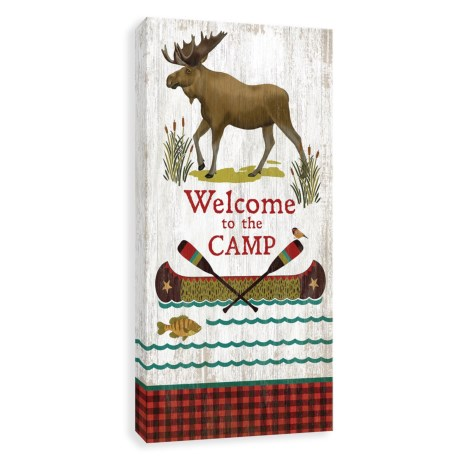 """Artissimo Designs """"Welcome to the Camp"""" Canvas Print - 12x24"""""""