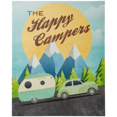 """Artissimo Designs 16x20"""" The Happy Campers Canvas Print"""