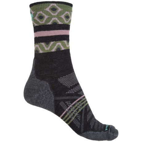 SmartWool PhD Outdoor Light Pattern Socks - Merino Wool, Crew (For Women)