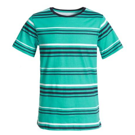 French Toast Stripe T-Shirt - Crew Neck, Short Sleeve (For Big Boys)