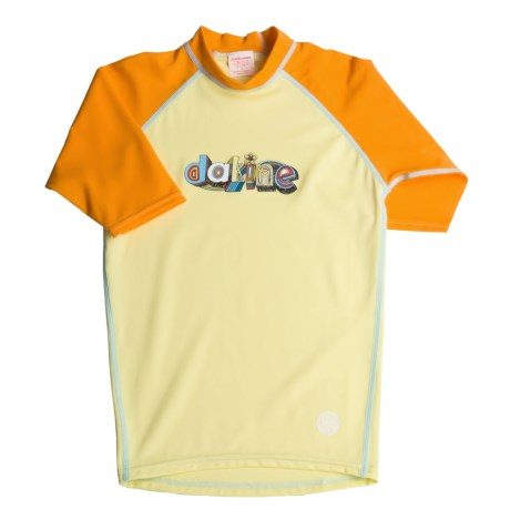 DaKine Colorful Rash Guard Shirt - UPF 40, 3/4 Sleeve (For Girls)