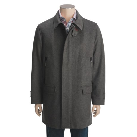 Steinbock Cleveland Car Coat - Wool Loden Cloth (For Men)
