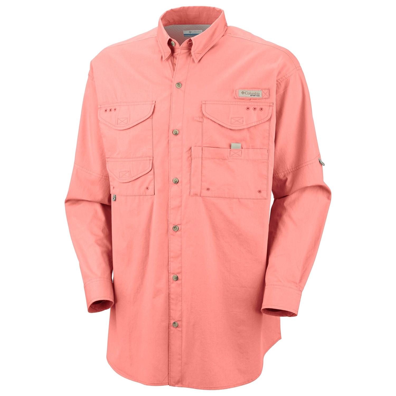 Columbia sportswear bonehead fishing shirt long sleeve for Men s columbia fishing shirts